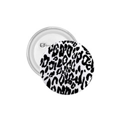 Black And White Leopard Skin 1 75  Buttons