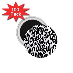 Black And White Leopard Skin 1 75  Magnets (100 Pack)  by Amaryn4rt