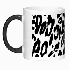 Black And White Leopard Skin Morph Mugs by Amaryn4rt
