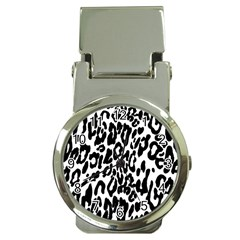 Black And White Leopard Skin Money Clip Watches