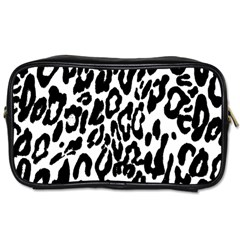 Black And White Leopard Skin Toiletries Bags 2 Side by Amaryn4rt