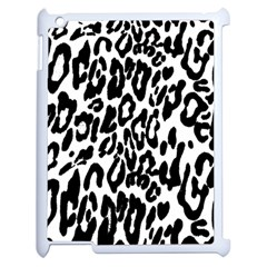 Black And White Leopard Skin Apple Ipad 2 Case (white) by Amaryn4rt