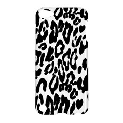 Black And White Leopard Skin Apple Ipod Touch 5 Hardshell Case by Amaryn4rt