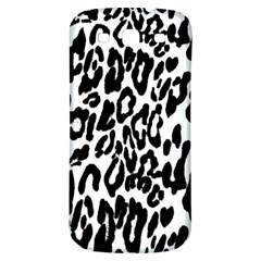 Black And White Leopard Skin Samsung Galaxy S3 S Iii Classic Hardshell Back Case by Amaryn4rt