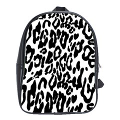Black And White Leopard Skin School Bags (xl)  by Amaryn4rt