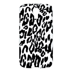 Black And White Leopard Skin Samsung Galaxy S4 I9500/i9505 Hardshell Case by Amaryn4rt