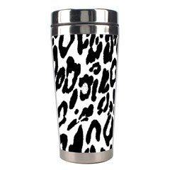 Black And White Leopard Skin Stainless Steel Travel Tumblers by Amaryn4rt