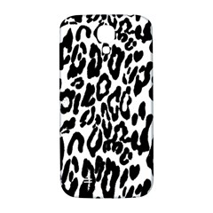 Black And White Leopard Skin Samsung Galaxy S4 I9500/i9505  Hardshell Back Case by Amaryn4rt