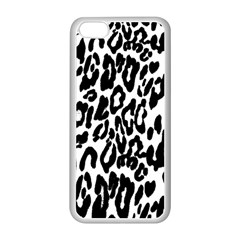 Black And White Leopard Skin Apple Iphone 5c Seamless Case (white) by Amaryn4rt