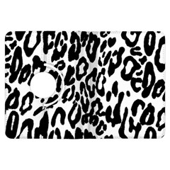 Black And White Leopard Skin Kindle Fire Hdx Flip 360 Case by Amaryn4rt