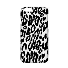 Black And White Leopard Skin Apple Iphone 6/6s Hardshell Case by Amaryn4rt