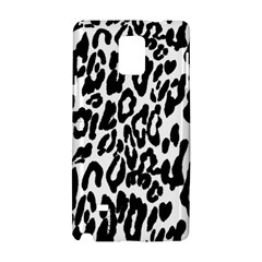 Black And White Leopard Skin Samsung Galaxy Note 4 Hardshell Case by Amaryn4rt