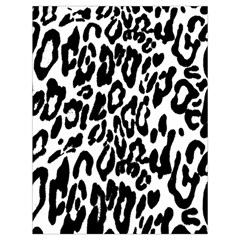 Black And White Leopard Skin Drawstring Bag (large) by Amaryn4rt
