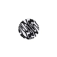 Black And White Wave Abstract 1  Mini Buttons by Amaryn4rt