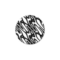 Black And White Wave Abstract Golf Ball Marker (10 Pack) by Amaryn4rt