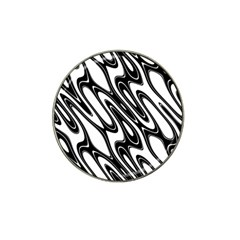 Black And White Wave Abstract Hat Clip Ball Marker (4 Pack) by Amaryn4rt
