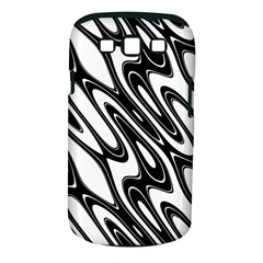 Black And White Wave Abstract Samsung Galaxy S Iii Classic Hardshell Case (pc+silicone) by Amaryn4rt