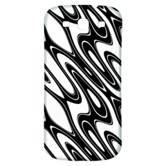 Black And White Wave Abstract Samsung Galaxy S3 S Iii Classic Hardshell Back Case by Amaryn4rt