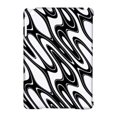 Black And White Wave Abstract Apple Ipad Mini Hardshell Case (compatible With Smart Cover) by Amaryn4rt