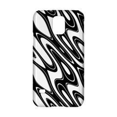 Black And White Wave Abstract Samsung Galaxy S5 Hardshell Case  by Amaryn4rt