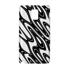 Black And White Wave Abstract Samsung Galaxy Note 4 Hardshell Case by Amaryn4rt