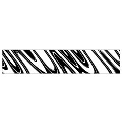 Black And White Wave Abstract Flano Scarf (small) by Amaryn4rt