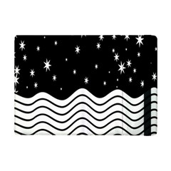 Black And White Waves And Stars Abstract Backdrop Clipart Ipad Mini 2 Flip Cases by Amaryn4rt