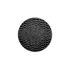 Black White Crocodile Background Golf Ball Marker (4 Pack) by Amaryn4rt