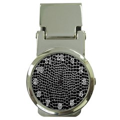 Black White Crocodile Background Money Clip Watches by Amaryn4rt