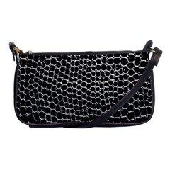 Black White Crocodile Background Shoulder Clutch Bags by Amaryn4rt