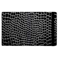 Black White Crocodile Background Apple Ipad 3/4 Flip Case by Amaryn4rt