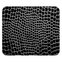 Black White Crocodile Background Double Sided Flano Blanket (small)  by Amaryn4rt