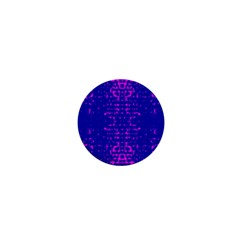 Blue And Pink Pixel Pattern 1  Mini Magnets by Amaryn4rt