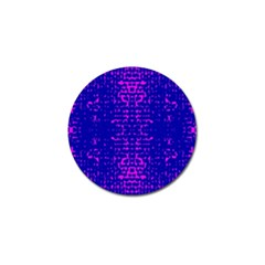 Blue And Pink Pixel Pattern Golf Ball Marker (10 Pack) by Amaryn4rt