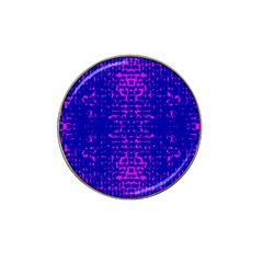 Blue And Pink Pixel Pattern Hat Clip Ball Marker (10 Pack) by Amaryn4rt