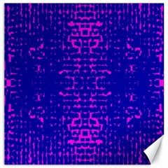 Blue And Pink Pixel Pattern Canvas 12  X 12   by Amaryn4rt