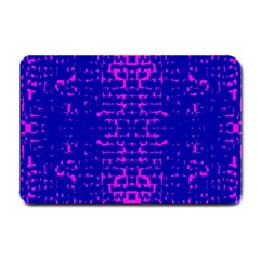 Blue And Pink Pixel Pattern Small Doormat  by Amaryn4rt