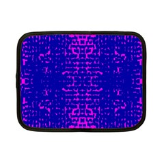 Blue And Pink Pixel Pattern Netbook Case (small)  by Amaryn4rt