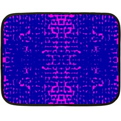 Blue And Pink Pixel Pattern Fleece Blanket (mini) by Amaryn4rt