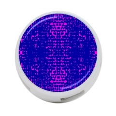 Blue And Pink Pixel Pattern 4 Port Usb Hub (one Side) by Amaryn4rt