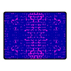 Blue And Pink Pixel Pattern Fleece Blanket (small) by Amaryn4rt
