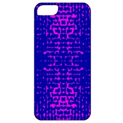 Blue And Pink Pixel Pattern Apple Iphone 5 Classic Hardshell Case by Amaryn4rt