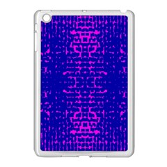 Blue And Pink Pixel Pattern Apple Ipad Mini Case (white) by Amaryn4rt