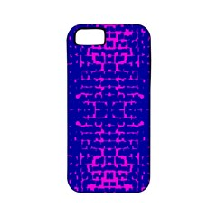 Blue And Pink Pixel Pattern Apple Iphone 5 Classic Hardshell Case (pc+silicone) by Amaryn4rt