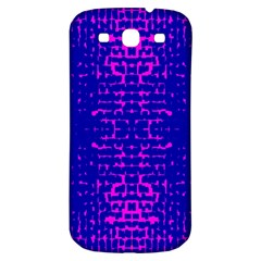 Blue And Pink Pixel Pattern Samsung Galaxy S3 S Iii Classic Hardshell Back Case by Amaryn4rt