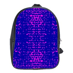 Blue And Pink Pixel Pattern School Bags (xl)  by Amaryn4rt