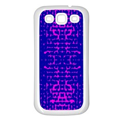 Blue And Pink Pixel Pattern Samsung Galaxy S3 Back Case (white)