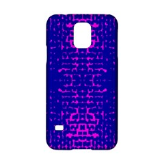 Blue And Pink Pixel Pattern Samsung Galaxy S5 Hardshell Case  by Amaryn4rt