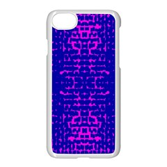 Blue And Pink Pixel Pattern Apple Iphone 7 Seamless Case (white) by Amaryn4rt