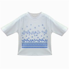 Blue And White Floral Background Infant/toddler T Shirts by Amaryn4rt